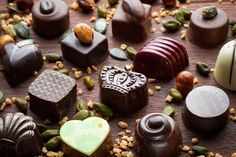 Handmade chocolate pralines and truffles Handmade Chocolates, Truffles, Artisan, Pudding, Desserts, Google Search, Food, Tailgate Desserts, Deserts
