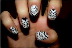#short nails #tribalprint
