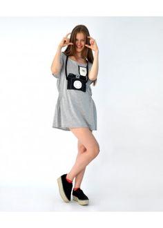 "HEEL Shop | Art Fashion, Athens Lab Blouse-dress ""Camera"""