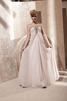 Beaded Backless Halter Long Party Ball Prom Gown Evening Dress