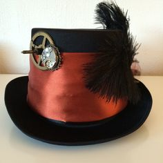"This steampunk hat is called ""sweet child in time"" http://steampunk-heaven.nl/product/steampunk-hoed-sweet-child-in-time/"