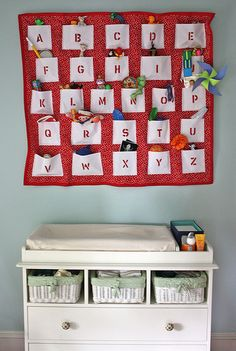 How sweet! Pockets of the alphabet... filled with things that start with that letter! Cute stuff!