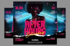 Night Club Party Flyer Template by Hotpin on @creativemarket
