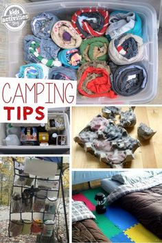TONS of camping tips for families - I especially love the foam floors in the tent and the chloraseptic spray for bug bites.