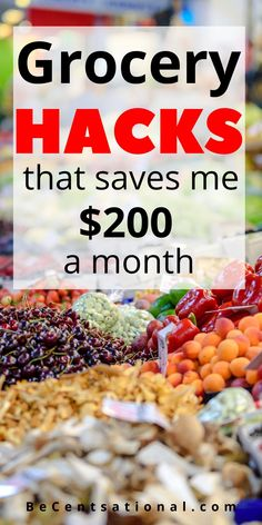 Are you on a grocery budget? Save money on groceries with these simple saving tips. I've been at this grocery budget thing for a few years now. I've learned a few money saving hacks along the way. Use these grocery budget hacks to save money on groceries. Easy instructions to follow this money tips There are many ways to save money!#savemoney #budgettips #savingmoney#moneytips #moneyhacks #grocerybudget #becentsational