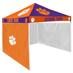 Clemson Tigers NCAA 9' x 9' Checkerboard Color Pop-Up Tailgate Canopy Tent With Side Wall