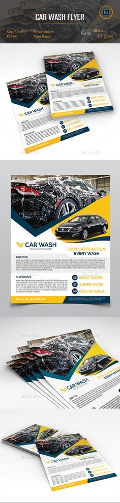 Car Wash Flyer Car wash, Cars and Cleaning companies - auto detailing flyer template
