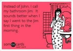 I went to the jim first thing in the morning. #exercise #humor