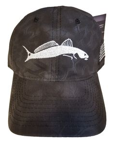 Introducing the Kryptek Camo Typhoon Black Hat with Custom Embroidered Redfish!!!!