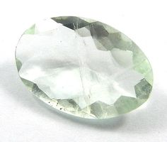 13.90Cts GOOD QUALITY NATURAL GREEN FLUORITE 14X20MM OVAL CHECKER CUT GEMSTONE