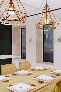 Contemporary kitchen and dining room at the Mulberry. Blending graphic strong colours with natural elements of copper & oak. Dining Room Inspiration, Interior Inspiration, Dining Room Design, Dining Rooms, New Kitchen, Kitchen Dining, Interior Design And Graphic Design, Copper, Strong
