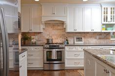 kitchen remodel with uba tuba granite tumbled marble