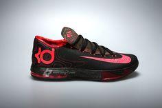 Basketball Shoes Nike KD VI Meteorology Black/Atomic Red-Medium Olive-Fire Red 599424-006