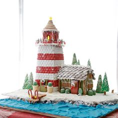 A must bake for the holiday season! Gingerbread Lighthouse via Coastal Living.