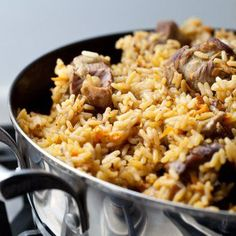 Chicken pilaf rice by Fast Healthy Meals, Healthy Crockpot Recipes, Healthy Dinner Recipes, Cooking Recipes, Couscous, Slow Cooker Chicken Rice, Quinoa, Health Dinner, Pasta