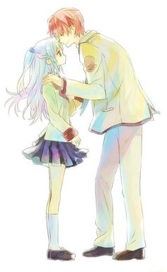 Angel beats Image about art in angel beats! by Japan on We Heart It Anime Angel, Angel Beats!, Anime Fairy, Anime Nerd, Anime Life, Anime Couples Manga, Cute Anime Couples, Anime Girls, Light Novel