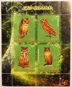 Vögel-Eulen / Birds Owls Congo 2009 MNH Kleinbogen Sheet postfrisch in Briefmarken | eBay