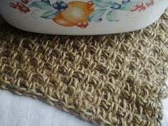 "Seed Stitch Hot Pad (or ""Trivet"" for you fancy folks)"