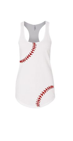 Baseball Mom Tank Top. Glitter Baseball Tank. by TNTAPPARELNMORE