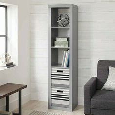 Cube Storage Unit Wooden Gray 5 Cubby Organizer Bin Box Cubicle Furniture New Cubbies, Shelves, Cube Storage Unit, Cubicle, Organizer, Box, Bookcase, New Homes, Contemporary
