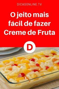 Creme de frutas | O jeito mais fácil de fazer Creme de Fruta | Pronto para as festas?
