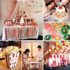 Birthday Party : Image : Description Spectacular Vintage Circus Theme First Vintage Circus Party, Circus Carnival Party, Circus Theme Party, Carnival Birthday Parties, Circus Birthday, Baby First Birthday, First Birthday Parties, First Birthdays, Party Themes
