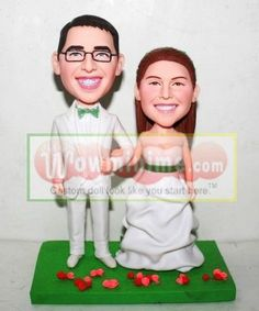 WowMiniMe.com 100% handmade custom wedding cake toppers look like you from photo--custom cake toppers- wedding