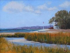 """Daily+Paintworks+-+""""Peconic+Summer""""+-+Original+Fine+Art+for+Sale+-+©+Maria+Reed"""