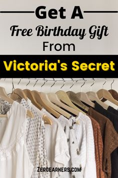 Free Birthday Gifts, Birthday Freebies, It's Your Birthday, Get Free Stuff, Free Gift Cards, Victoria's Secret, Tattoo, Sayings, Lyrics