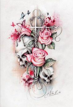 Ohne totenkopf... Mit Blumen