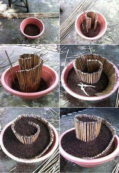 Cómo crear tu propia maceta en espiral