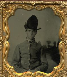 "Elijah Lazarus Anderson, Company G, 5th Georgia Militia. In 1864, he enlisted at the age of 16 in ""Joe Brown's Pets."" David Wynn Vaughan Collection."