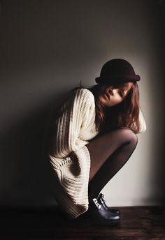 Shop this look on Kaleidoscope (sweater, hat, shoes)  http://kalei.do/WMQq87NaaRBgdFTn