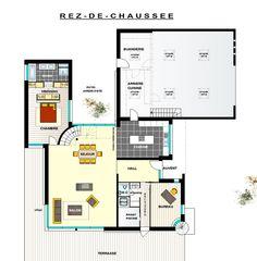 plan maison contemporaine toit plat recherche google - Plan De Maison Moderne Toit Plat Gratuit