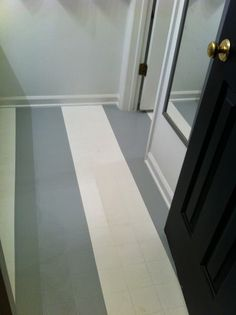 painting linoleum / vinyl floors   recycle, upcycle, repurpose