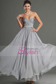 2015 Sweetheart A Line Prom Dress With Flowing Chiffon Skirt Beaded And Ruffled