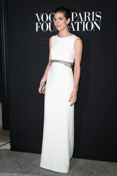 """beautifulcharlotte: """" Charlotte Casiraghi attends the Vogue Foundation Gala as part of Paris Fashion Week at Palais Galliera on July 9, 2014 in Paris, France """" Fab."""