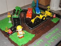 Construction/ digger/ tractor cake ideas - everybody Communities