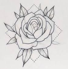 White And Red Roses Drawing Google Search Drawing Google Red Roses Search White Rose Tattoo Stencil Traditional Rose Tattoos Roses Drawing