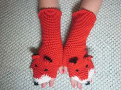 Crochet Fox Mittens