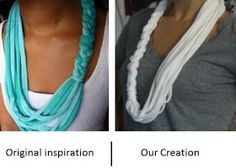 one day at a time: Braided Tshirt Scarf Tutorial
