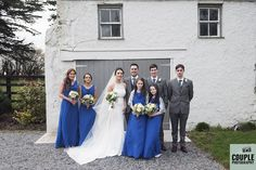 The bridal party. Weddings at The Shearwater Hotel by Couple Photography.