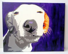 Custom Pet Portrait/ Dog Portrait / Portrait/ Pop Art Painting in Acrylic on Canvas Based on Customer's OWN Photograph - pinned by pin4etsy.com