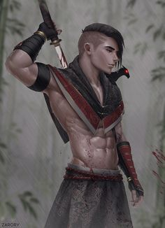 Deadly Demon by Zarory. on - - Deadly Demon by Zarory.deviantart… on – - Fantasy Character Design, Character Concept, Character Art, Fantasy Male, Fantasy Warrior, Dnd Characters, Fantasy Characters, Fantasy Inspiration, Character Inspiration
