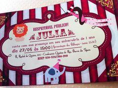 Convite Festa Circo Vintage | Design Festeiro