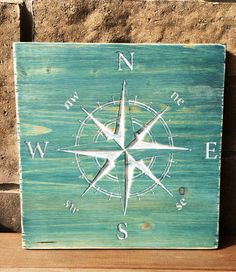 Wood Carved compass Wall Hanging compass by IronwoodNorthDesign