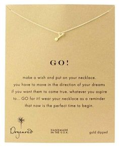 Dogeared Go! Gold Arrow Necklace #dogeared #sharethehappy