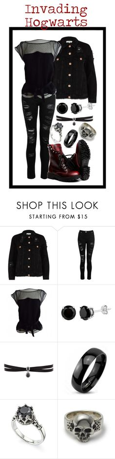 """Invading Hogwarts"" by starkandspooky ❤ liked on Polyvore featuring River Island, Dorothy Perkins, Louis Vuitton, Fallon and West Coast Jewelry"