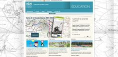 Cartes et jeux géographiques pour la classe avec le site IGN éducation