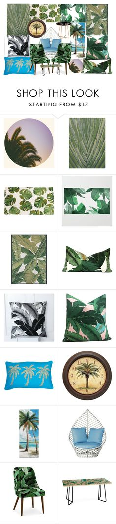 """""""Florida Palms"""" by lerp ❤ liked on Polyvore featuring Jaipur, Couristan, Tommy Bahama, Infinity, David Francis Furniture, Sparrow & Wren and DENY Designs"""